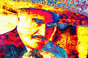 Pop Singer Framed Prints - Vicente Fernandez Framed Print by Juan Jose Espinoza