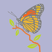 Creepy Digital Art Posters - Viceroy Butterfly Poster by Mary Ogle