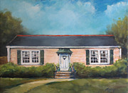 House Portrait Prints - Vicksburg Pre-Katrina Print by Julie Dalton Gourgues