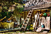 Outbuilding Framed Prints - Vics Old Barn III Framed Print by David Patterson