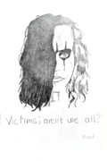  Brandon Lee Prints - Victims Print by Rebecca Wood