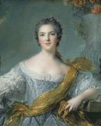 Female Portrait Paintings - Victoire de France at Fontevrault by Jean Marc Nattier