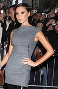 Minidress Framed Prints - Victoria Beckham Wearing Antonio Framed Print by Everett