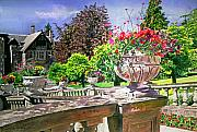 Gardenscapes Painting Framed Prints - Victoria Framed Print by David Lloyd Glover