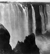 White River Scene Photo Framed Prints - Victoria Falls - c 1911 Framed Print by International  Images