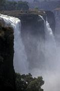 Zambia Waterfall Metal Prints - Victoria Falls - Zimbabwe Metal Print by Craig Lovell