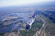 Zambia Waterfall Photos - Victoria Falls by Carlos Dominguez