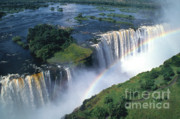 Wonders Of The World Posters - Victoria Falls Rainbow Poster by Sandra Bronstein