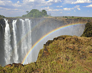 Double Rainbow Posters - Victoria Falls Poster by Tony Beck