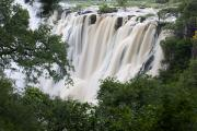 Zimbabwe Photos - Victoria Falls Waterfall Framed by Roy Toft