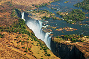 Zimbabwe Photos - Victoria Falls, Zambia by  Pascal Boegli