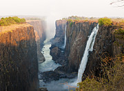 Zambia Waterfall Metal Prints - Victoria Falls, Zambia, Southern Africa Metal Print by Peter Adams