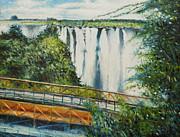 Victoria Falls Zimbabwe 2012 Print by Enver Larney