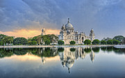 Kolkata Prints - Victoria Memorial In Kolkata Print by Sudiproyphotography