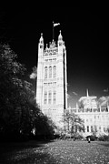 Palace Of Westminster Prints - victoria tower gardens at the palace of westminster houses of parliament buildings London England Print by Joe Fox