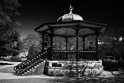 Victorian Town Posters - victorian bandstand in the pavilion gardens Buxton Derbyshire England UK Poster by Joe Fox