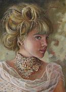 Oil Painting - Victorian Beauty by Enzie Shahmiri