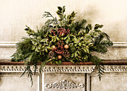 Fireplace Photos - Victorian Christmas by Olivier Le Queinec