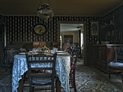 Cabin Wall Framed Prints - Victorian Dining Room No. 2 - Montana Framed Print by Daniel Hagerman