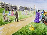 Vintage Woman Paintings - Victorian Filey by Svetlana Sewell