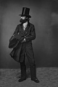 Victorian Digital Art - VICTORIAN GENTLEMAN WILLIAM SIDNEY MOUNT c. 1853 by Daniel Hagerman
