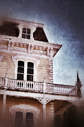 Haunted House Art - Victorian House by Jill Battaglia
