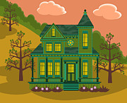 Victorian Style Digital Art - Victorian House by Sam Morrison