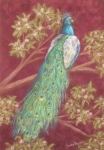 Victorian Peacock Print by Sandra Poirier