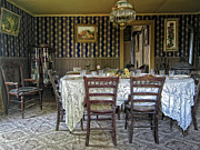 Gaslight Posters - Victorian Sedman Home Dining Room - Nevada City Montana Poster by Daniel Hagerman
