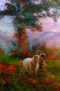 Victorian Digital Art - Victorian Sheep by Ron Jones