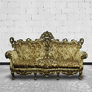 Antique Telephone Photos - Victorian Sofa In White Room by Setsiri Silapasuwanchai