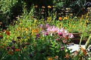 Victorian Summer Garden Print by Theresa Willingham