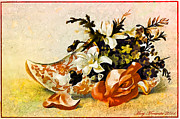 Cards Vintage Mixed Media Posters - Victorian Trade Card Poster by Mary Morawska