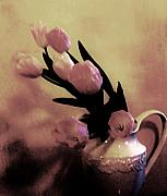 Victorian Digital Art - Victorian Tulips by Marsha Heiken
