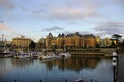 John Greaves Prints - Victorias Inner Harbour Print by John  Greaves