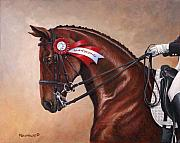 Dressage Art - Victorious by Richard De Wolfe