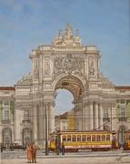 Victory Ach Lisbon - Arco Da Vitoria Lisboa Print by Carlos De Vasconcelos Tavares