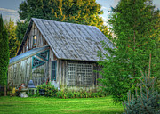 Old Barn Posters - Victory Barn Poster by Pamela Baker