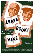 Us Flag Mixed Media Prints - Victory Book Campaign Print by War Is Hell Store