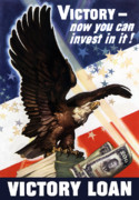 Us Propaganda Art - Victory Loan Bald Eagle by War Is Hell Store
