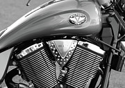 V Twin Prints - Victory Motorcycle Virginia City NV Print by Troy Montemayor