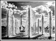 Victory Park Fountains Print by Mark Britten