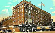 Evansville Framed Prints - Victory Theatre And Hotel Sonntag In Evansville In 1920 Framed Print by Dwight Goss