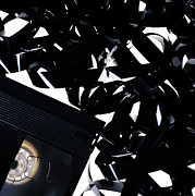 Video Art - Video Cassette And Tape by Kevin Curtis