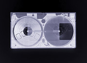 Cassette Tape Framed Prints - Video Cassette, Simulated X-ray Framed Print by Mark Sykes