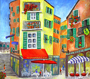 South Of France Paintings - Vieille Ville - Nice by Ronald Haber