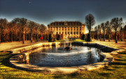 Fontain Digital Art Prints - Vienna - Schonbrunn Palace Print by Vladimir Maksimovic