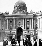 Crowd Scene Prints - Vienna Austria - Imperial Palace - c 1902 Print by International  Images