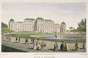 1822 Framed Prints - Vienna: Belvedere, 1822 Framed Print by Granger