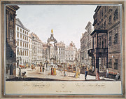 1793 Framed Prints - Vienna: Hohemarkt, 1793 Framed Print by Granger